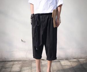 korean fashion clothing and woman pants image