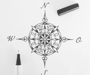 art, compass, and draw image