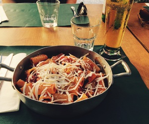 beer, food, and italy image