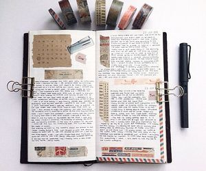 book, journal, and journaling image