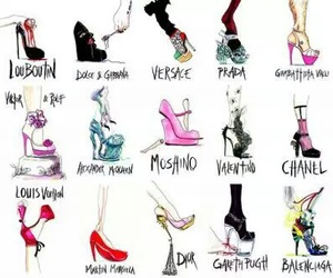 shoes, dior, and chanel image
