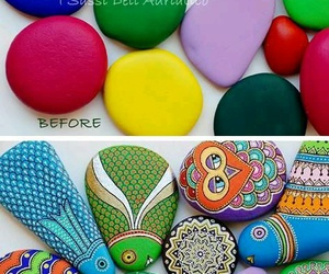diy, painting, and stones image