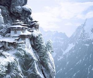 himalaya, nature, and Temple image
