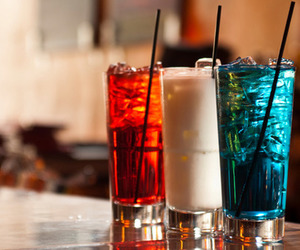 drink, blue, and red image