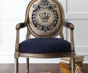 book, chair, and crown image