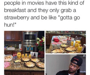 funny, movies, and breakfast image