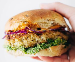 burger, cauliflower, and delicious image