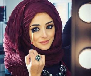 hijab, beauty, and eyes image