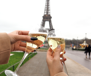alcohol, eiffel tower, and france image