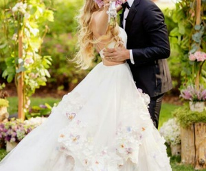 beautifull, bride, and dress image