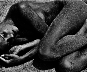 bare, Nude, and black and white image