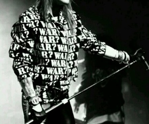 axl rose, Guns N Roses, and black and white image