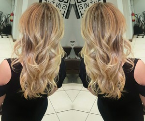 beauty, blonde, and hairinspo image