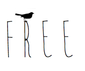 free, text, and bird image