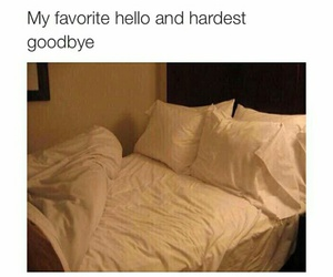 bed, goodbye, and funny image