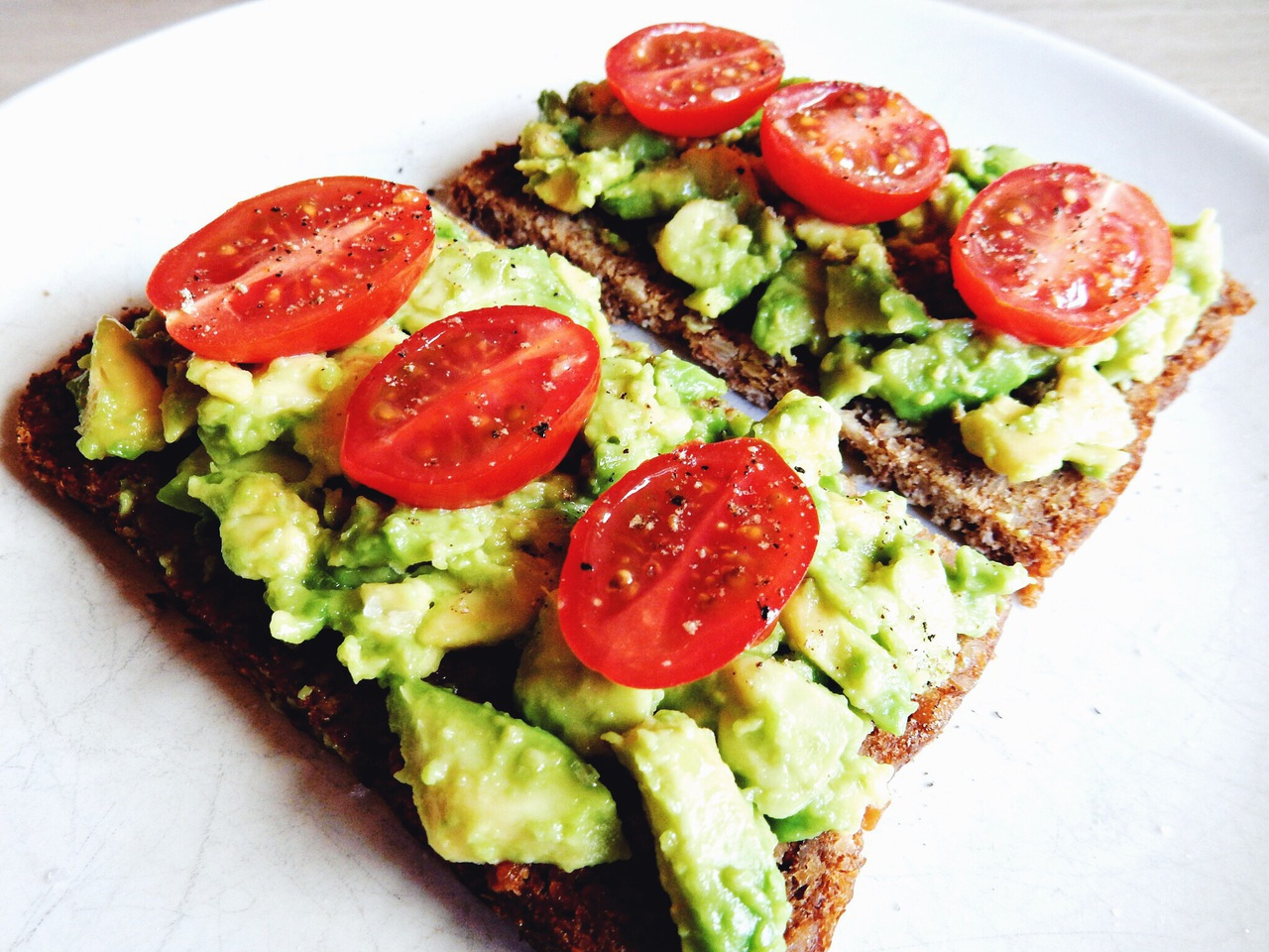 avocado, bread, and brown image