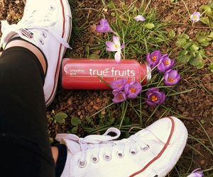 converse, flowers, and FRUiTS image