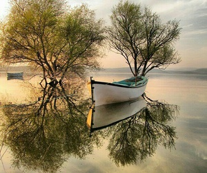 nature, boat, and beautiful image