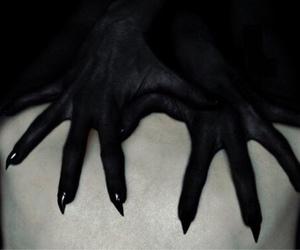 hands, dark, and demon image
