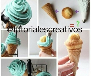 cupcake, diy, and helado image