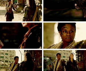 marie avgeropoulos, adina porter, and indra image