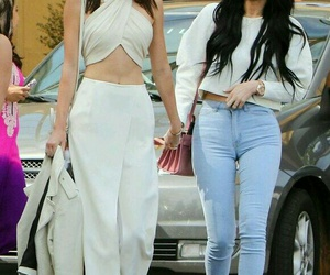 kylie jenner, kendall jenner, and outfit image