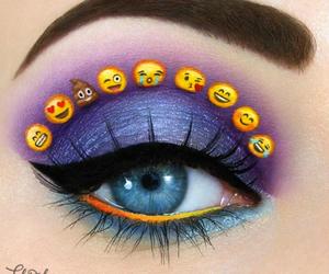 emoji, makeup, and eyes image