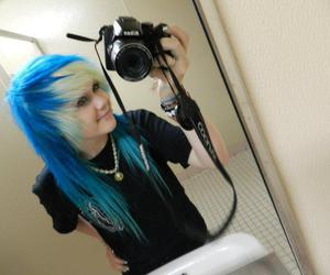 blue hair, scene, and hair image