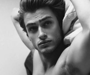 black and white, face, and handsome image