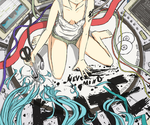 hatsune miku, vocaloid, and kawaii image