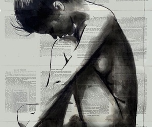 art, ink drawing, and loui jover image