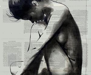 art, artist, and female image