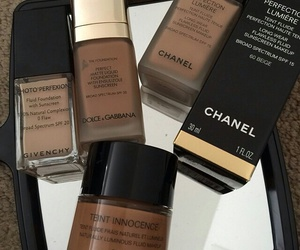 makeup, chanel, and Foundation image
