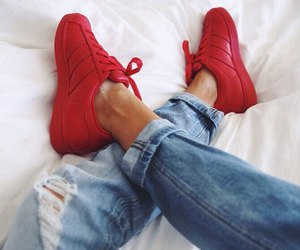 adidas, red, and sneakers image