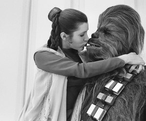 star wars, chewbacca, and kiss image