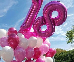 18, balloon, and pink image