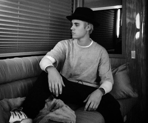 justin bieber, justin, and black and white image