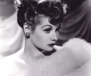black and white, I Love Lucy, and Lucille Ball image