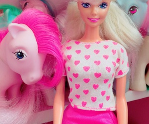 barbie, pink, and toys image