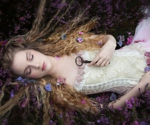 flowers, fantasy, and beauty image