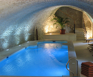pool, luxury, and water image