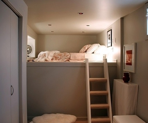 bed, room, and home image