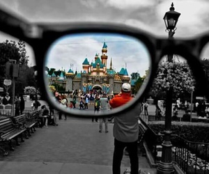 disney, glasses, and black and white image