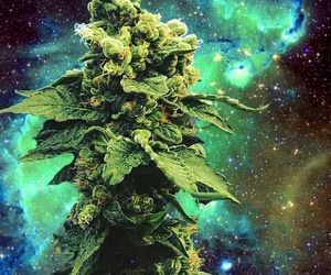 weed, marijuana, and galaxy image