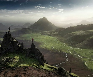 mountains, nature, and iceland image