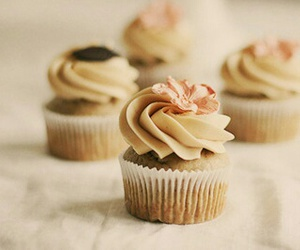 cream, flowers, and pink image