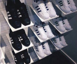 adidas, black and white, and goals image