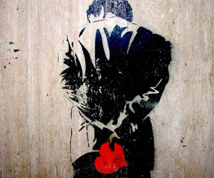 art, heart, and street art image