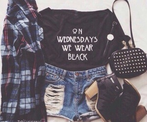 black, of, and outfit image