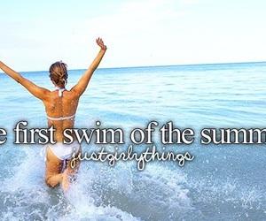 summer, swim, and justgirlythings image
